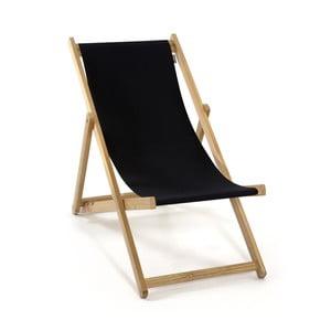Składany leżak Beach, czarny