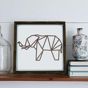 Obraz w ramie Dekorjinal Pouff Elephant, 33x33cm