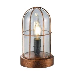 Lampka stołowa Birte, miedziana