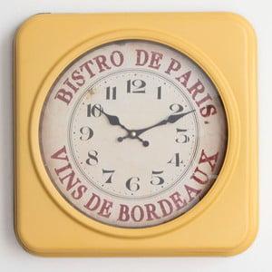 Metalowy zegar Bistro de Paris, 35x35 cm