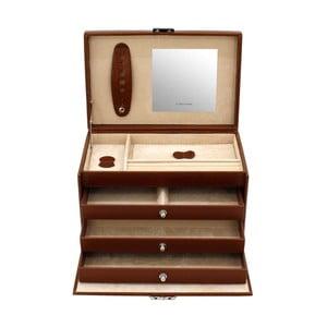 Szkatułka na biżuterię Classico Brown, 24x15x16 cm
