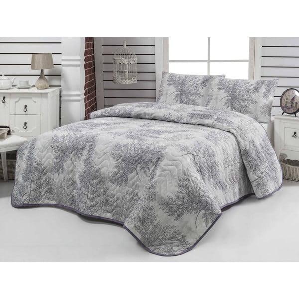 Narzuta i poszewki na poduszkę Sedir Grey, 200x220 cm