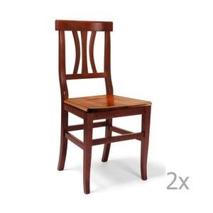 Zestaw 2 krzeseł drewnianych Castagnetti Insieme
