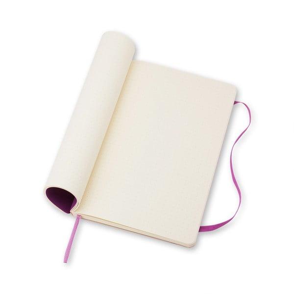 Jasnofioletowy notatnik gładki Moleskine Soft, duży