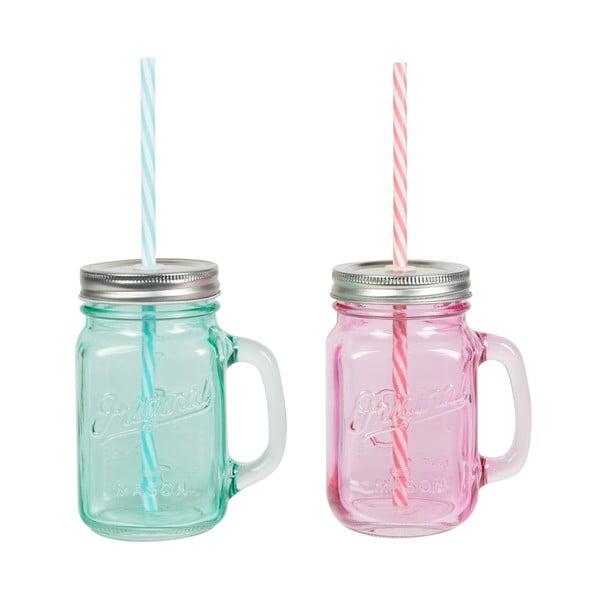 Zestaw 2 szklanek ze słomką Sass & Belle Vintage