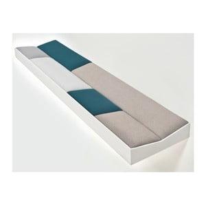 Snug White Green, wyściełana półka 100 cm
