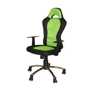 Zielonoczarny fotel biurowy SOB Office
