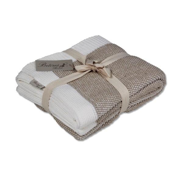 Jasnobrązowy koc bawełniany Clen