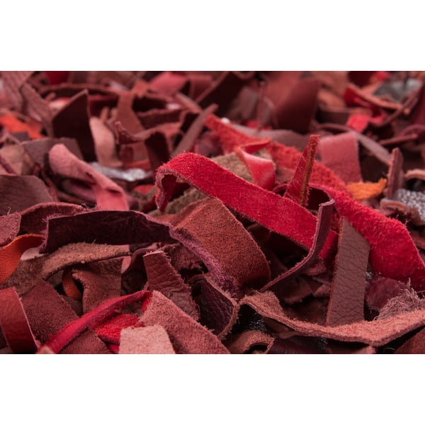 Skórzany dywan Rodeo 80x150 cm, czerwony