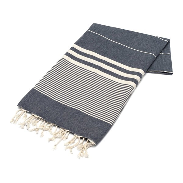Ręcznik hammam American Stripes B&W, 100x180 cm