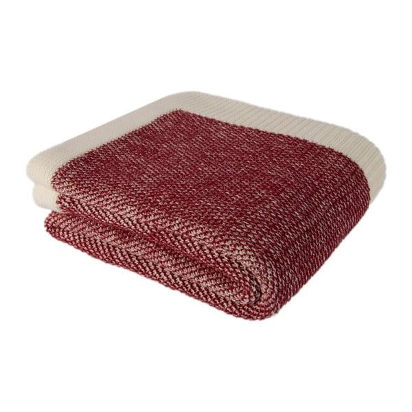 Czerwonobeżowy   koc bawełniany Couture