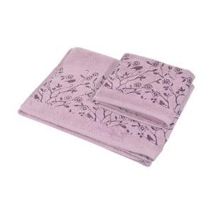 Komplet 2 ręczników Antenne Lilas