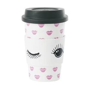 Ceramiczny kubek podróżny Lips, 0,5 l