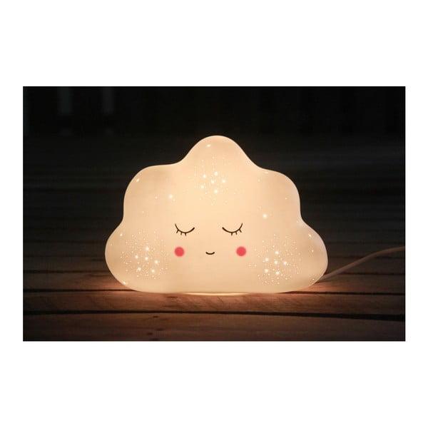 Biała lampa stołowa Opjet Paris Cloud