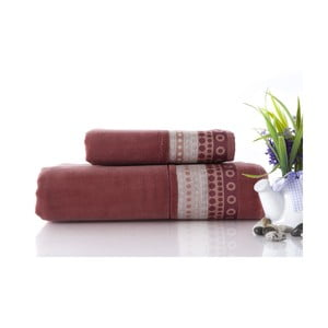 Zestaw 2 ręczników Golf Brick Color, 70x140 i 50x90 cm