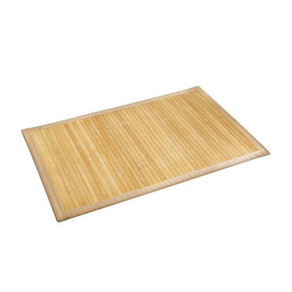 Jasny bambusowy dywanik łazienkowy Wenko, 50x80 cm