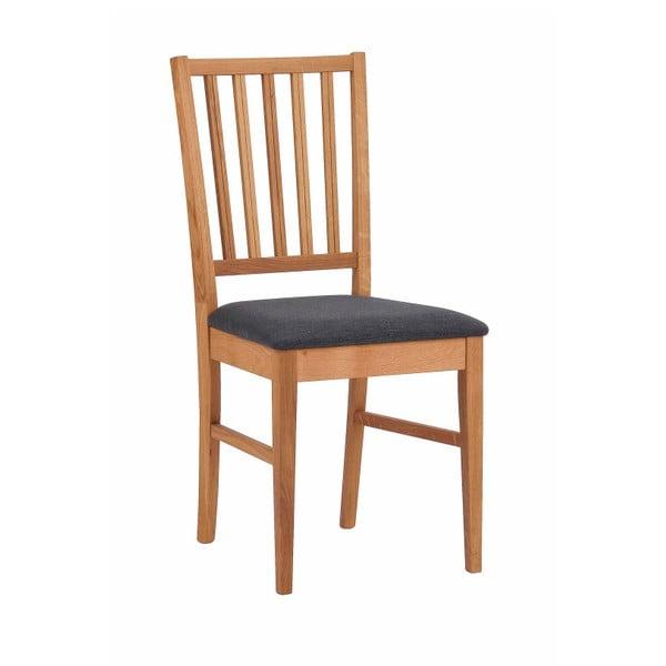 Zestaw 2 naturalnych krzeseł z drewna dębowego Folke Filippa