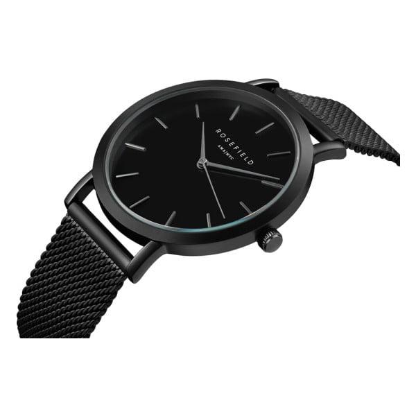 Czarny zegarek damski Rosefield The Mercer