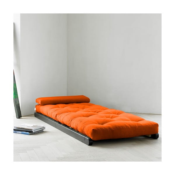 Szezlong Karup Figo Wenge/Orange, 70 cm