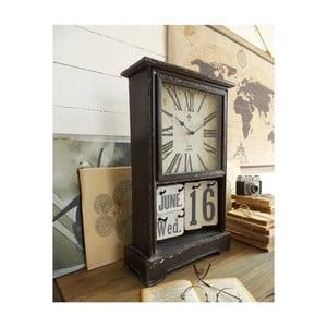 Zegar stołowy z kalendarzem Orchidea Milano Vintage Look, 33x52 cm