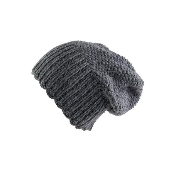 Wełniana czapka, długa, Grey Uni