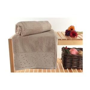 Zestaw 2 ręczników Tomur Brown, 90x150 cm