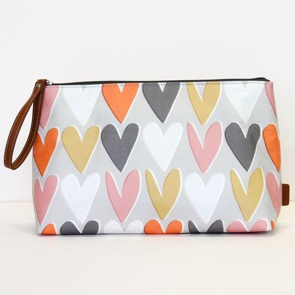 Kosmetyczka Caroline Gardner Layered Hearts Wristlet Cosmetic Bag