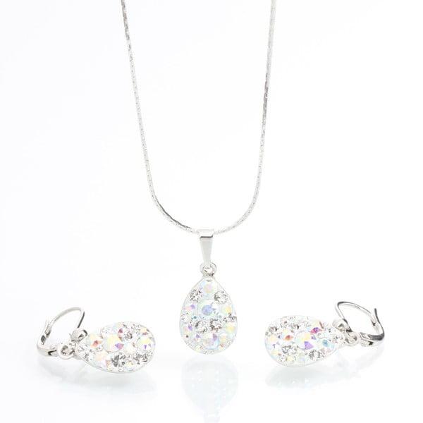 Komplet naszyjnika i kolczyków z kryształami Swarovski Elements Laura Bruni Drope