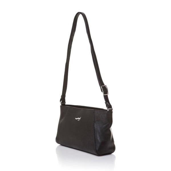 Skórzana torebka na długim pasku Marta Ponti Strada, czarna