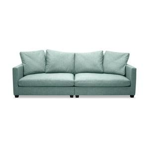 Jasnoturkusowa sofa 3-osobowa Vivonita Hugo