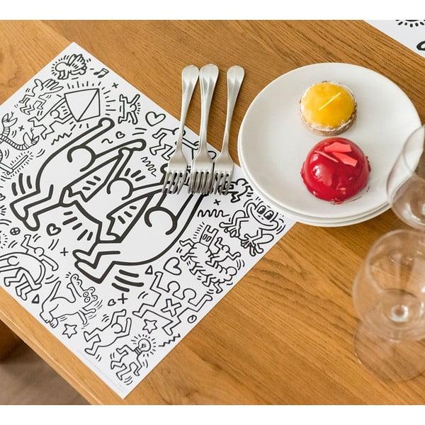 Mata stołowa – kolorowanka dla dzieci Keith Haring, 24 sztuki