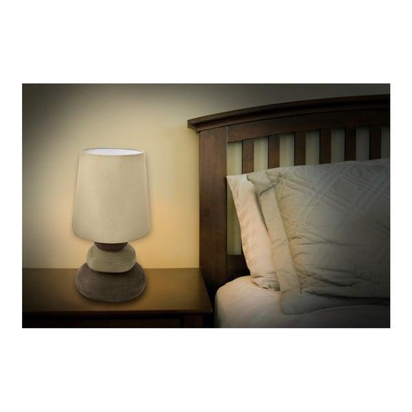 Beżowa lampa stołowa Naeve Stoff