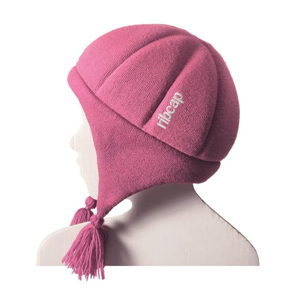 Różowa dziecięca czapka ochronna Ribcap Chessy, L