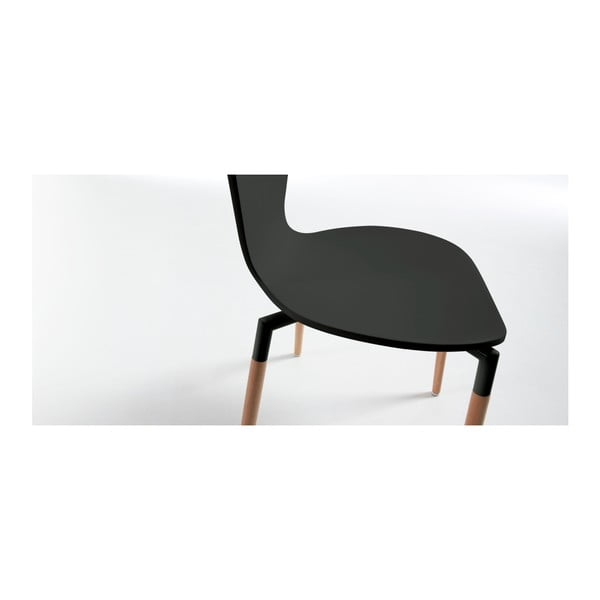 Czarne krzesło La Forma Eclectic