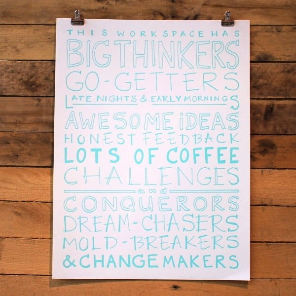 Plakat The Workspace, 61x46 cm