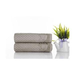 Zestaw 2 ręczników Acustic Water Green, 50x90 cm