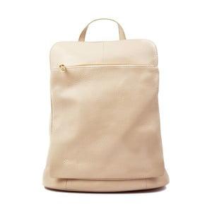 Jasnobeżowa plecak skórzany Isabella Rhea Turo