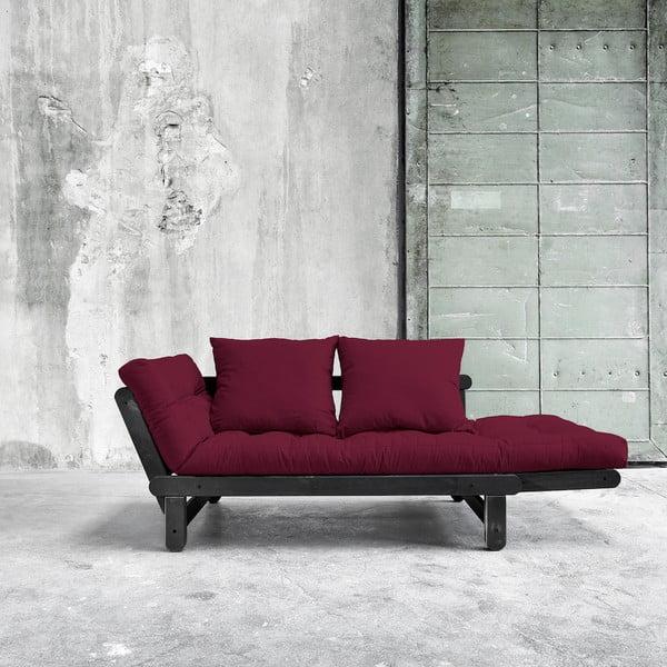 Sofa rozkładana Karup Beat Black/Bordeaux