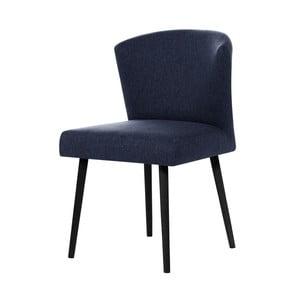 Ciemnoniebieskie krzesło z czarnymi nogami My Pop Design Richter