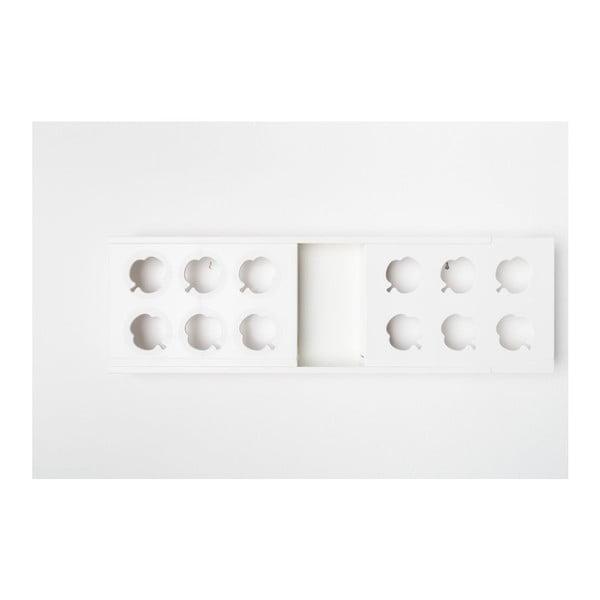 Pionowa doniczka HOH! Duo White, 77x27,7 cm