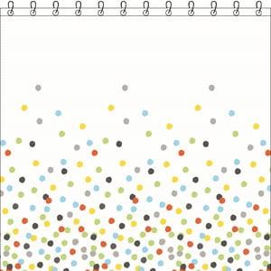 Zasłona prysznicowa Sorema Confetti, 180x200 cm