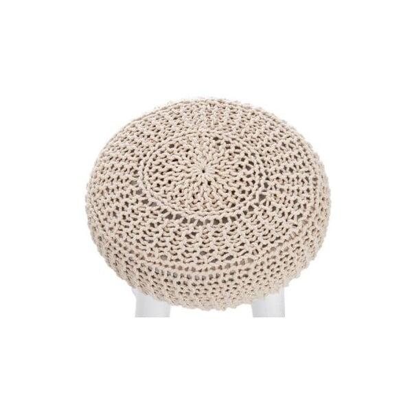 Taboret z dzierganym siedzeniem Cushion