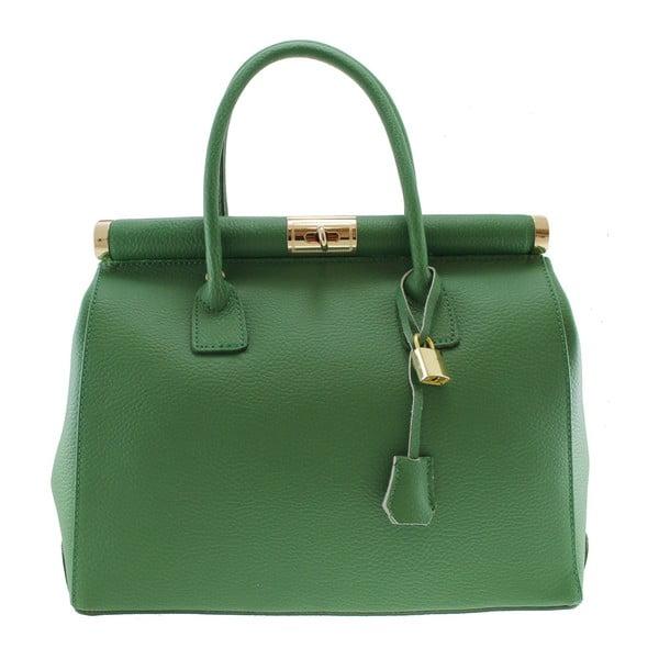 Zielona skórzana torba Blair
