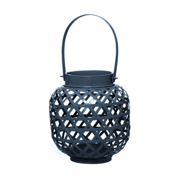 Lampion bambusowy Web Night Blue