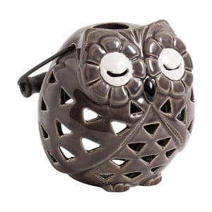 Świecznik ceramiczny Owl, ciemnoszary