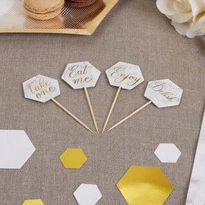 Zestaw 20 dekoracyjnych wykałaczek Neviti Scripted Marble Picks