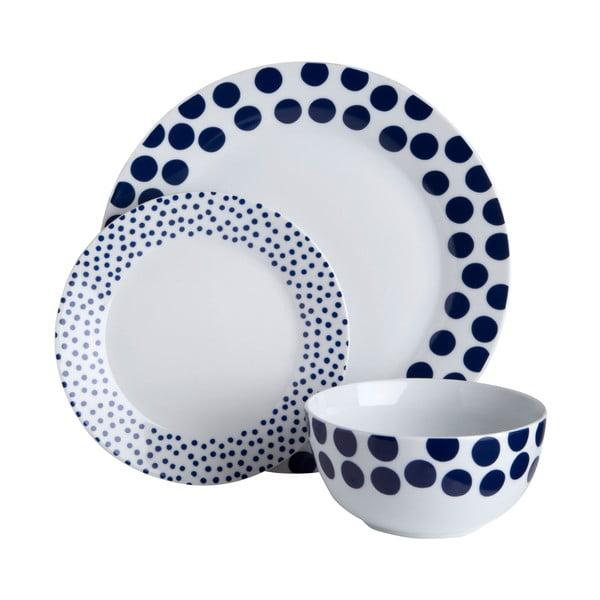Zestaw talerzy Premier Housewares Blue Spots, 12 sztuk