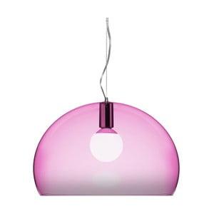 Fioletowa lampa wisząca Kartell Fly
