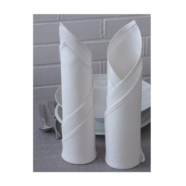 Zestaw 2 lnianych serwetek Spring 45x45 cm, białe