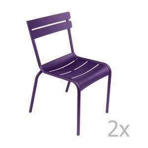 Zestaw 2 fioletowych krzeseł Fermob Luxembourg